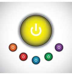 Yellow on button vector