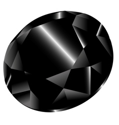 black diamond vector image