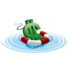 financial crash vector image vector image