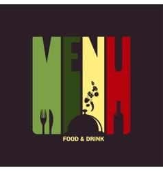 food and drink menu label design background vector image