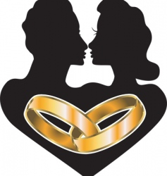 marriage love vector image
