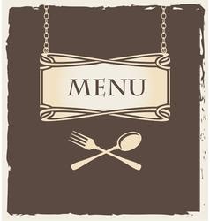 spoon menu vector image vector image