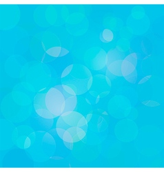 Blue abstract circle lights bokeh background vector