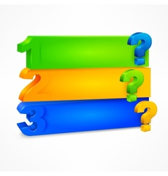 Question mark template color vector image
