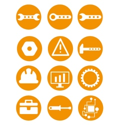 Set of repair tools icons in vector image