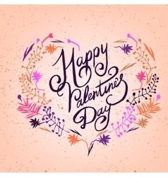 Valentine Lettering vector image