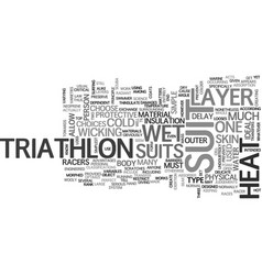 what you must know about triathlon suit text word vector image