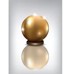 golden sphere award vector image
