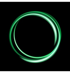 Green neon circle background vector image vector image