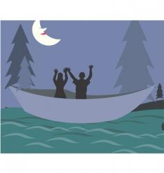 nighttime fishing vector image vector image