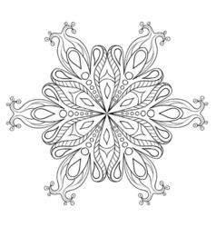 Zentangle elegant snow flake ornamental winter for vector image