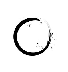 black circle zen vector image