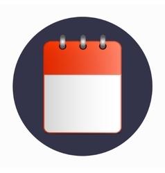 Blank sheet of desktop calendar red color vector image vector image