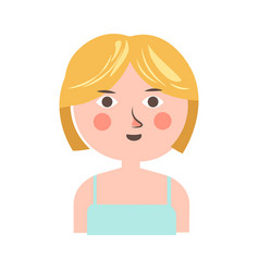female teenager with short hair portrait isolated vector image vector image