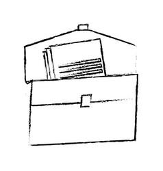 Folder document paper office supplies elements vector
