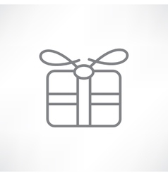 Gift in a box vector image vector image