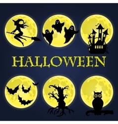 Halloween symbols collection vector