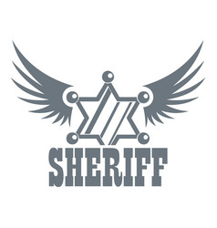 sheriff logo vintage style vector image vector image