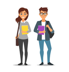 student man and woman vector image
