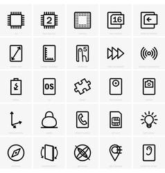 Tablet pc characteristics vector image