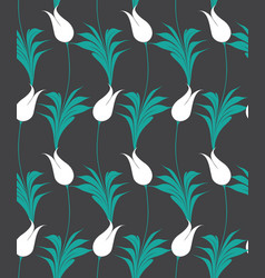 turkish tulip seamless pattern vector image