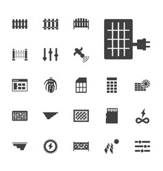 22 panel icons vector