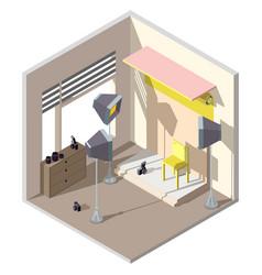 3d isometric photography studio vector