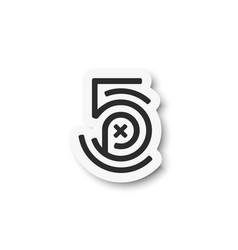 500px logo icon flat design vector image
