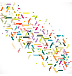 abstract colorful and creative geometric stripe vector image