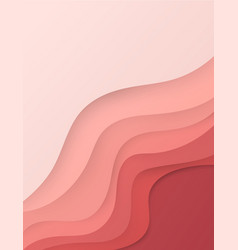 abstract realistic paper cut background vector image