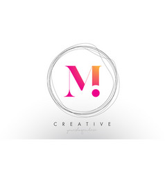 Artistic m letter logo design with creative vector