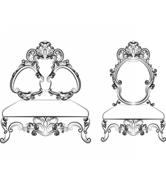 Baroque Royal style furniture vector