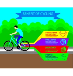 Benefit of Cycling Infographic vector