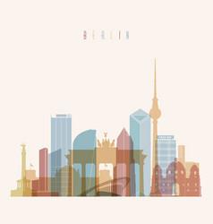 Berlin germany skyline silhouette poster vector