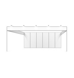 Blank white trade exhibition booth system stand vector
