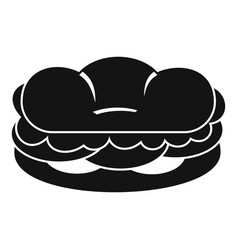 Burger icon simple style vector