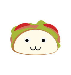 burrito delicious food cute kawaii cartoon vector image