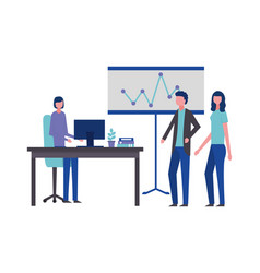 business man and woman office vector image