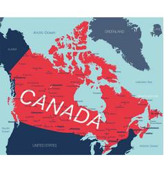 Canada editable map vector
