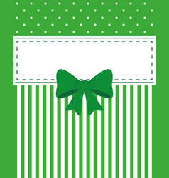 Card invitation green vector