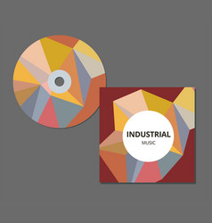 cd cover presentation design template with copy vector image