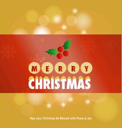 christmas greetings card with chritmas vector image