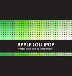 Circle pattern set apple lollipop seamless vector