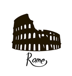 Colosseum in italy icon vector