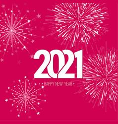 Creative happy new year 2021 vector