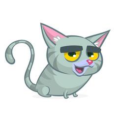 cute and funny cartoon cat vector image