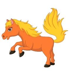 Cute pony horse cartoon vector image