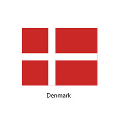 denmark flag official colors and proportion vector image