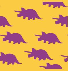 dinosaur triceratops silhouette pattern seamless vector image