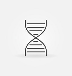 dna spiral icon in thin line style vector image